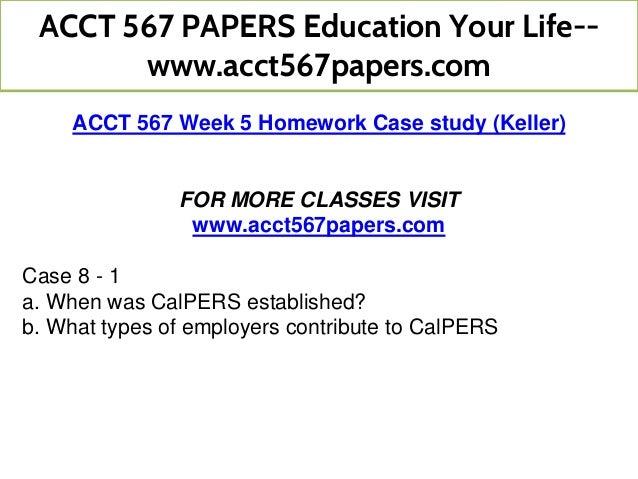 acct 567 homework