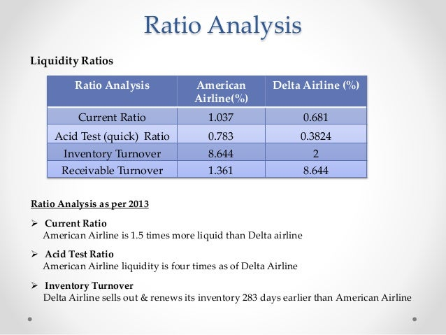 financial analysis of delta airlines The domestic environment for delta airlines - the domestic environment for delta airlines is the united states in the us airline industry, there are more than 100 passenger airlines that operate over 11 million flight departures per year.