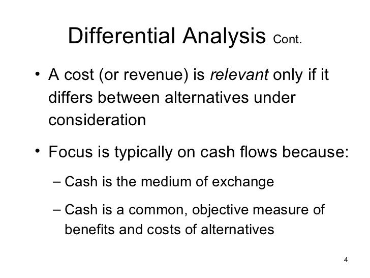 tthe relevance of variable and fixed costs in incremental analysis Incremental analysis is used to find the impact of changes in costs both fixed and variable costs requiring incremental analysis those fixed costs are.