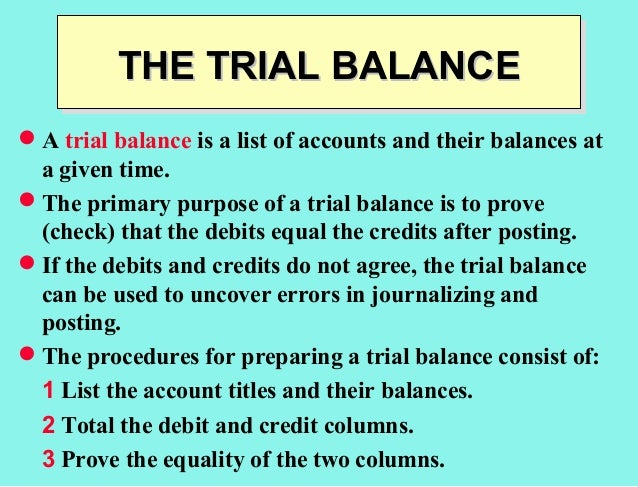 trial balance accounting
