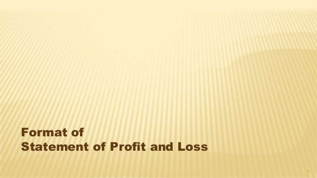 revised schedule vi statement of profit and loss