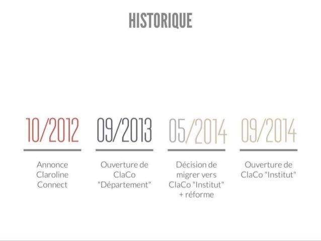 Aujourd'hui, ClaCo Vinci vit et grandit… Utilisateurs : 2100 EA « UE » : 60 Nbre de visiteurs/Jour : 400 à 600 Nbre d'acti...