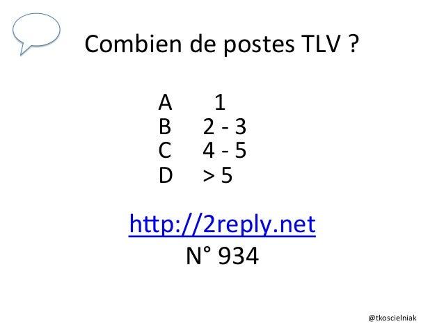 @tkoscielniak   Combien  de  postes  TLV  ?   A             1   B     2  -‐  3   C  ...