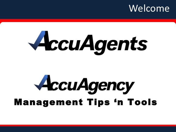 Welcome Management Tips 'n Tools