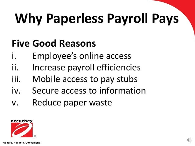 Reasons To Implement Paperless Payroll - Paperless pay stub