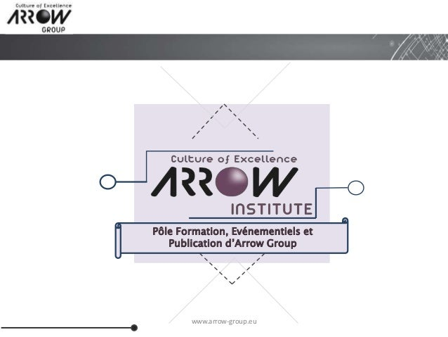 www.arrow-group.eu Pôle Formation, Evénementiels et Publication d'Arrow Group