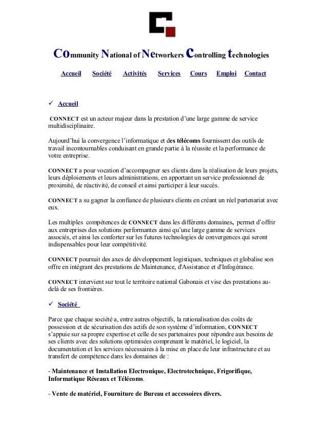 Community National of Networkers controlling technologies       Accueil    Société    Activités     Services     Cours    ...