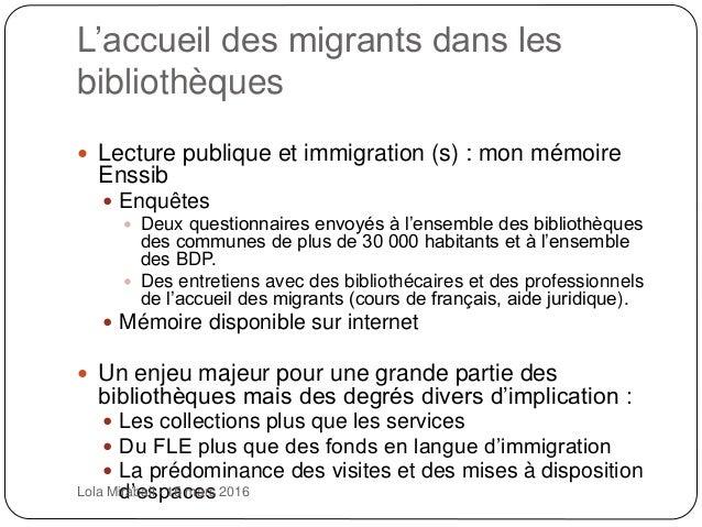 Lecture publique et immigration(s) Slide 3