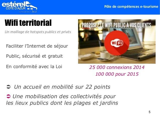 Pôle de compétences e-tourisme Wifi territorial Faciliter l'Internet de séjour Public, sécurisé et gratuit Un maillage de ...