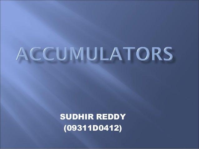 SUDHIR REDDY (09311D0412)