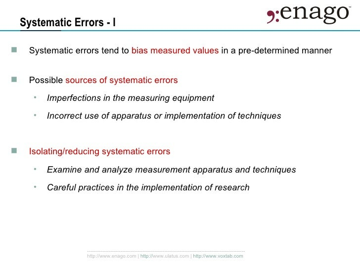 Accuracy Random And Systematic Errors