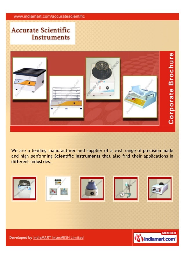 We are a leading manufacturer and supplier of a vast range of precision madeand high performing Scientific Instruments tha...