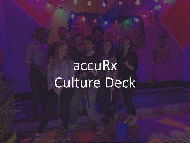 accuRx Culture Deck