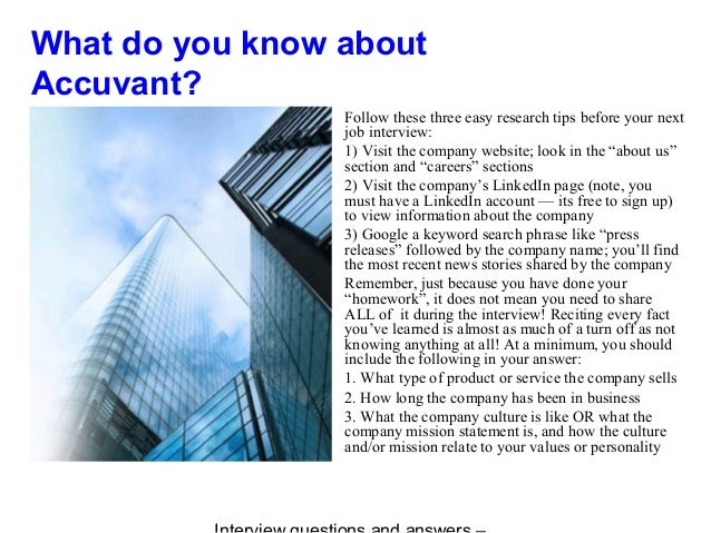 Accuvant interview questions and answers