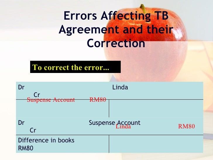 correction of errors and suspense account pdf