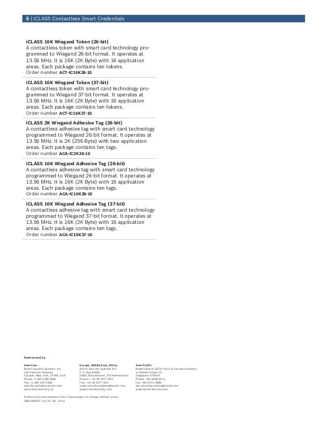Bosch ACD-IC16K37-50 Data Sheet