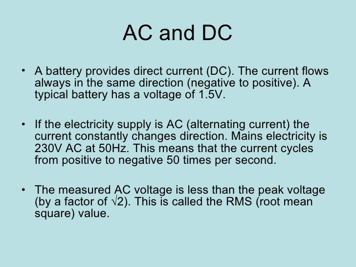 what does ac powered mean