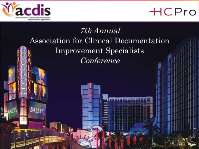 7th Annual Association for Clinical Documentation Improvement Specialists Conference