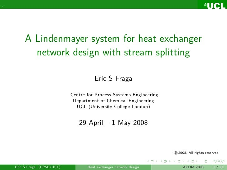 .              A Lindenmayer system for heat exchanger            network design with stream splitting                    ...