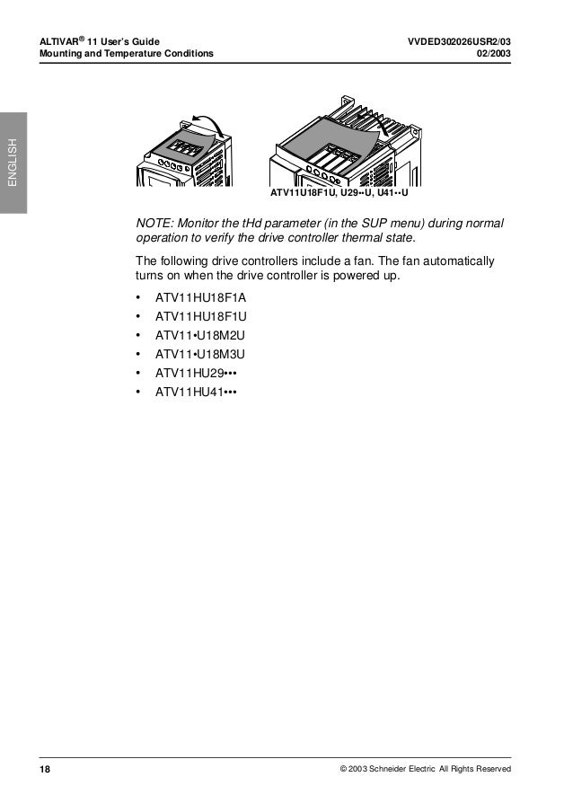 Altivar 11 drive Manual