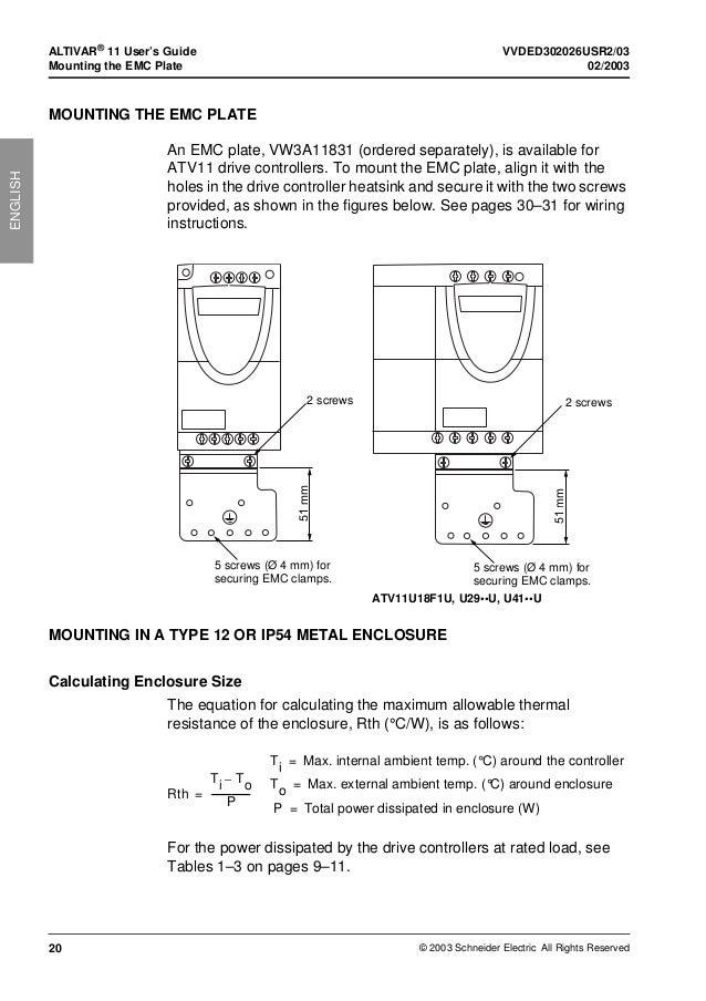 Altivar 11 Vfd manual