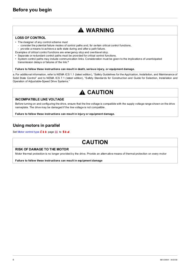BBV28581 04/2009 7 Documentation structure The following Altivar 12 technical documents are available on the Schneider Ele...