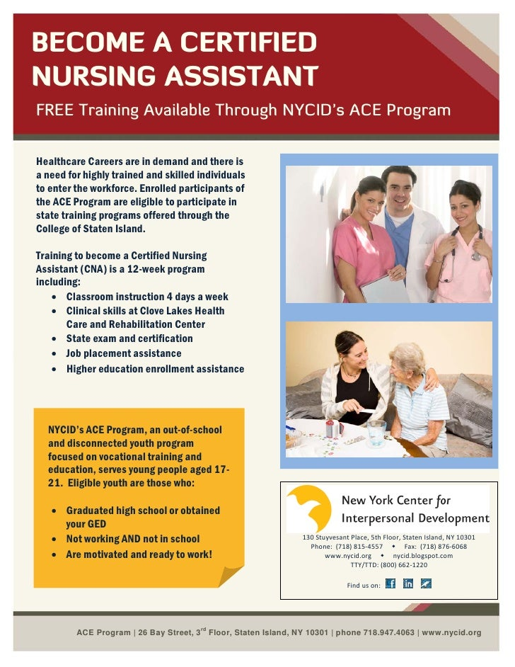 Ace Program Cna Recruitment Flyer