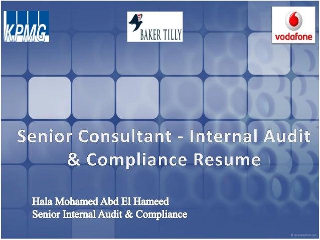 Senior Consultant - Internal Audit & Compliance CV