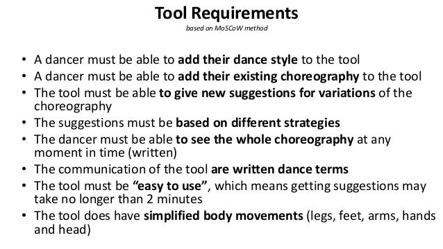 4 rule-based strategies for creating variations on existing choreographies 1. Random step replaced by random other step 2....