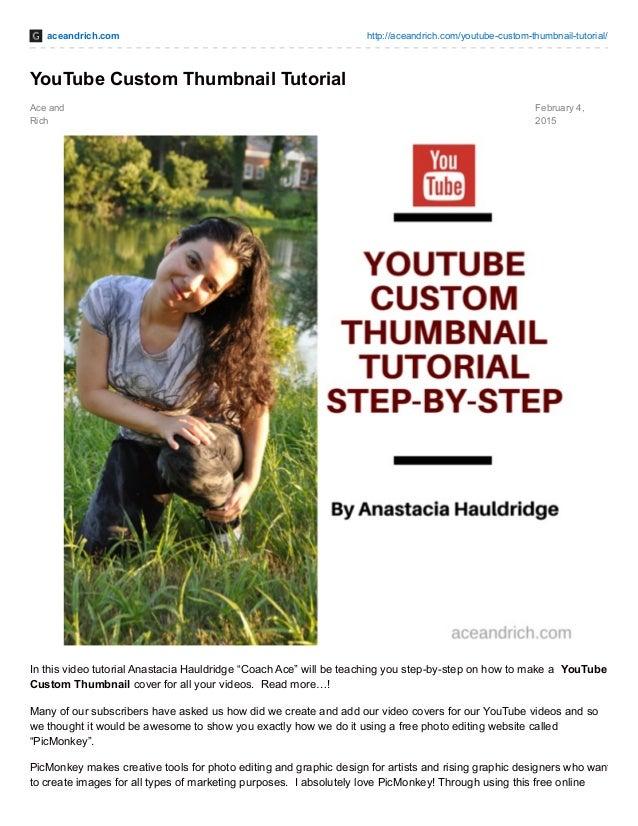 YouTube Custom Thumbnail Tutorial