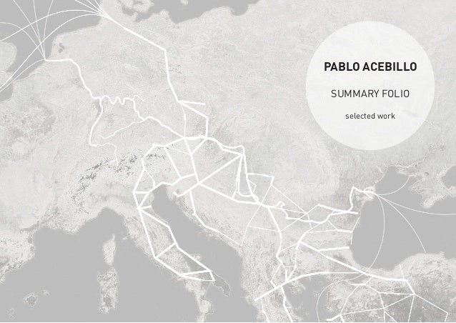 PABLO ACEBILLO SUMMARY FOLIO selected work