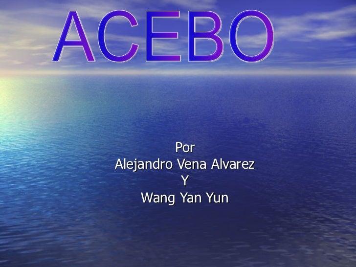 Por Alejandro Vena Alvarez Y Wang Yan Yun ACEBO