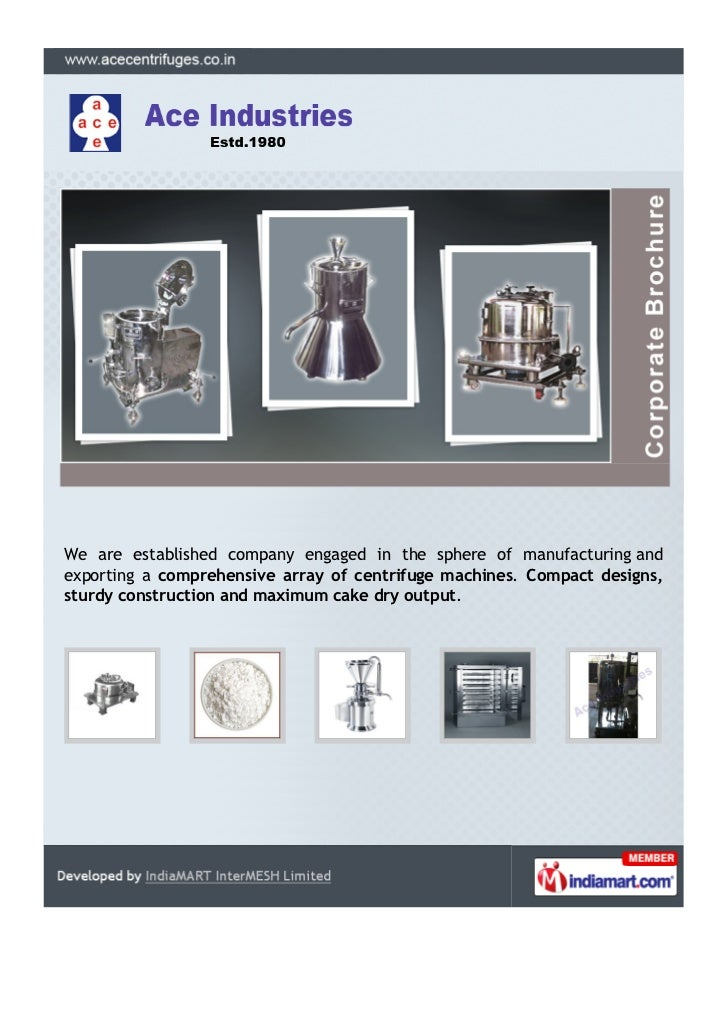 We are established company engaged in the sphere of manufacturing andexporting a comprehensive array of centrifuge machine...