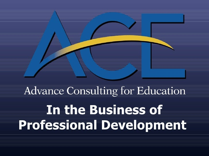 In the Business of Professional Development