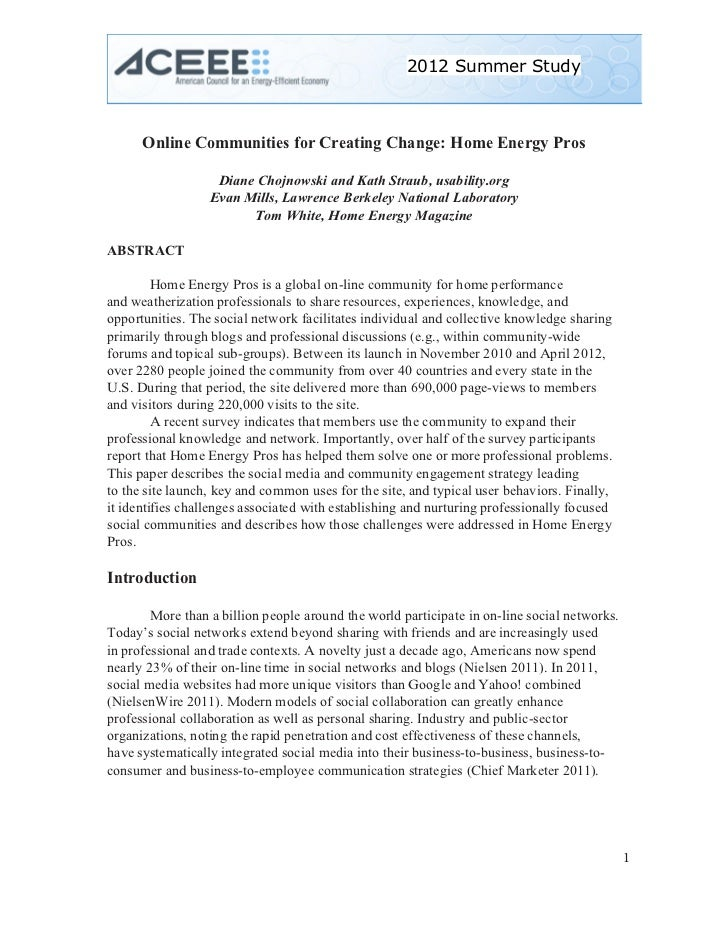 2012 Summer Study                                                                     .        Online Communities for Cr...