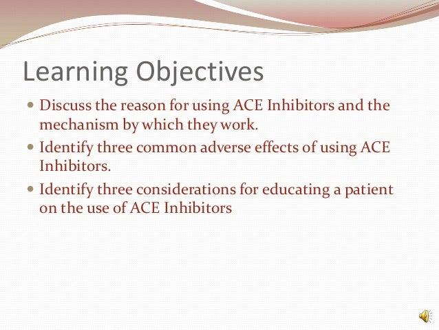 Ace inhibitors Slide 2