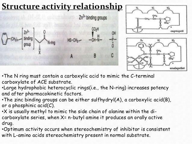 captopril structure activity relationship study