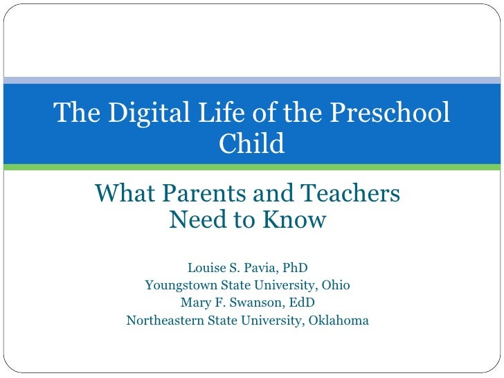 What Parents and Teachers Need to Know Louise S. Pavia, PhD Youngstown State University, Ohio Mary F. Swanson, EdD Northea...