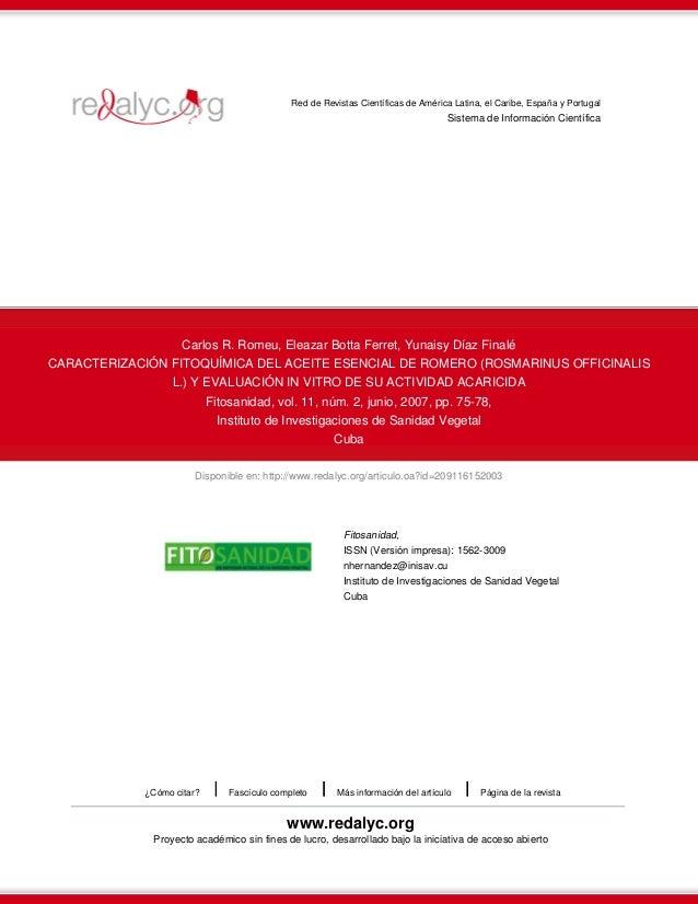 Disponible en: http://www.redalyc.org/articulo.oa?id=209116152003 Red de Revistas Científicas de América Latina, el Caribe...