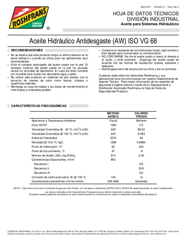 Aceite Hidraulico Aw Iso Vg 68 R3