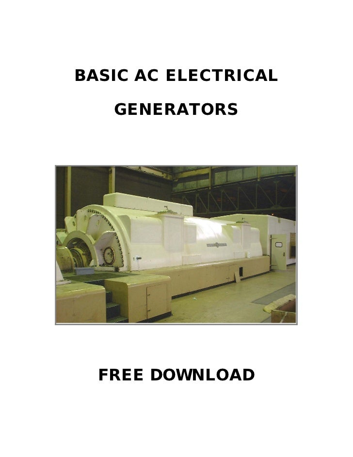BASIC AC ELECTRICAL   GENERATORS  FREE DOWNLOAD