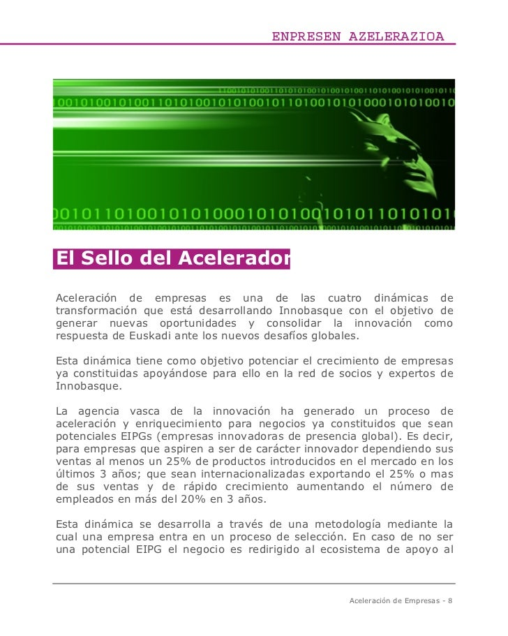 ENPRESEN AZELERAZIOAEl Sello del AceleradorAceleración de empresas es una de las cuatro dinámicas detransformación que est...