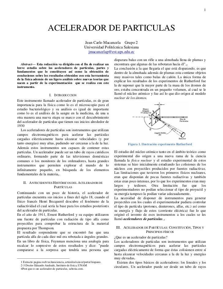 1                           ACELERADOR DE PARTICULAS                                                          Jean Carlo M...