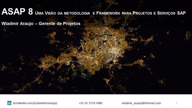 8 UMA VISÃO DA METODOLOGIA E FRAMEWOÊK PARA PROJETOS E SERVIÇOS SAP  Wladmir Araujo - Gerente de Projetos  i _ n.      .  ...