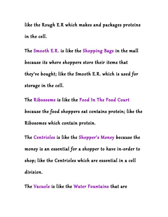 A cell is like a shopping mall animal cell – Cell City Analogy Worksheet