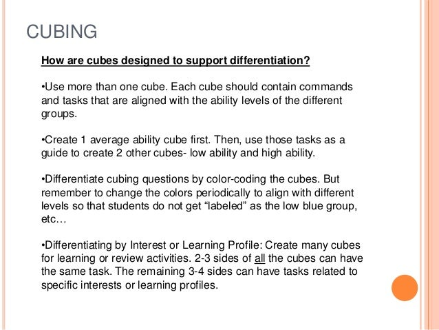 Differentiated Instruction With Hots