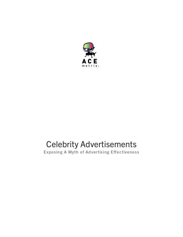 Celebrity AdvertisementsExposing A Myth of Advertising Effectiveness