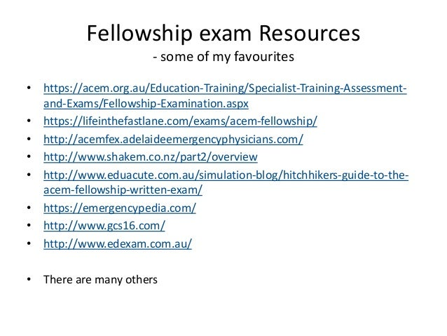 a684209791 ACEM fellowship exams - an overview of marking