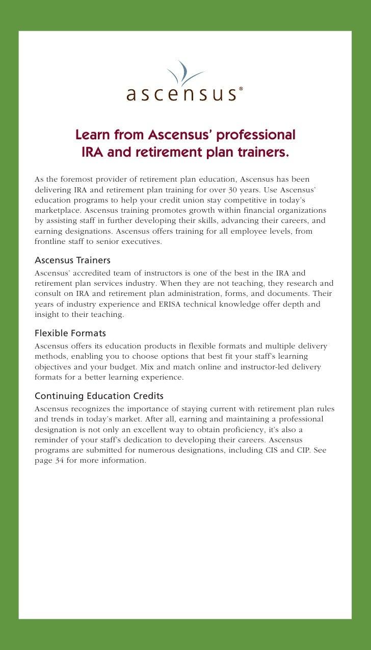 Ascensus Credit Union Education Catalog 2012 Slide 2