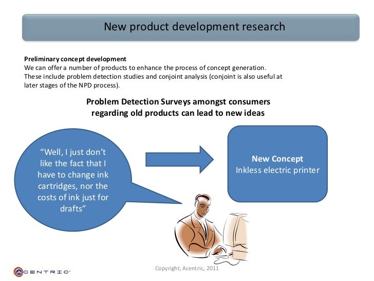 new product development research Problems of new product development - research design to be adopted in this study is survey research provide information on fact, opinions and attit.
